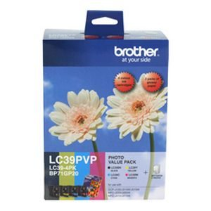Brother LC-39 Inkjet Cartridge – Colour Value Pack - GENUINE