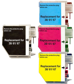 Brother Compatible LC38,LC-67 Inkjet Cartridge - Colour Value Pack