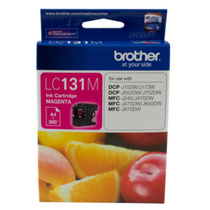 Brother LC-131 Magenta Ink Cartridge - up to 300 pages