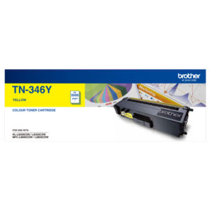 Brother TN-346 Yellow Toner Cartridge - 3,500 pages to suit BROTHER HL L8250CDN, HL L8350CDW, MFC L8600CDW, MFC L8850CDW