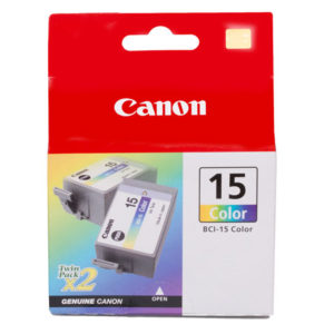 Canon BCI-15C Colour Ink Tank - 2 per pack - 100 pages each