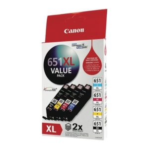 Canon CLI651XL Ink Value Pack - CLI651XL B,C,M,Y x 1 - ref to individual yields