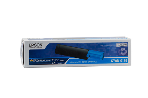 Epson AL-CX11N / CX11NF / C1100 Cyan Toner Cartridge - 4,000 pages