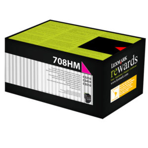 Lexmark 708HM HY Magenta Toner - 3,000 pages